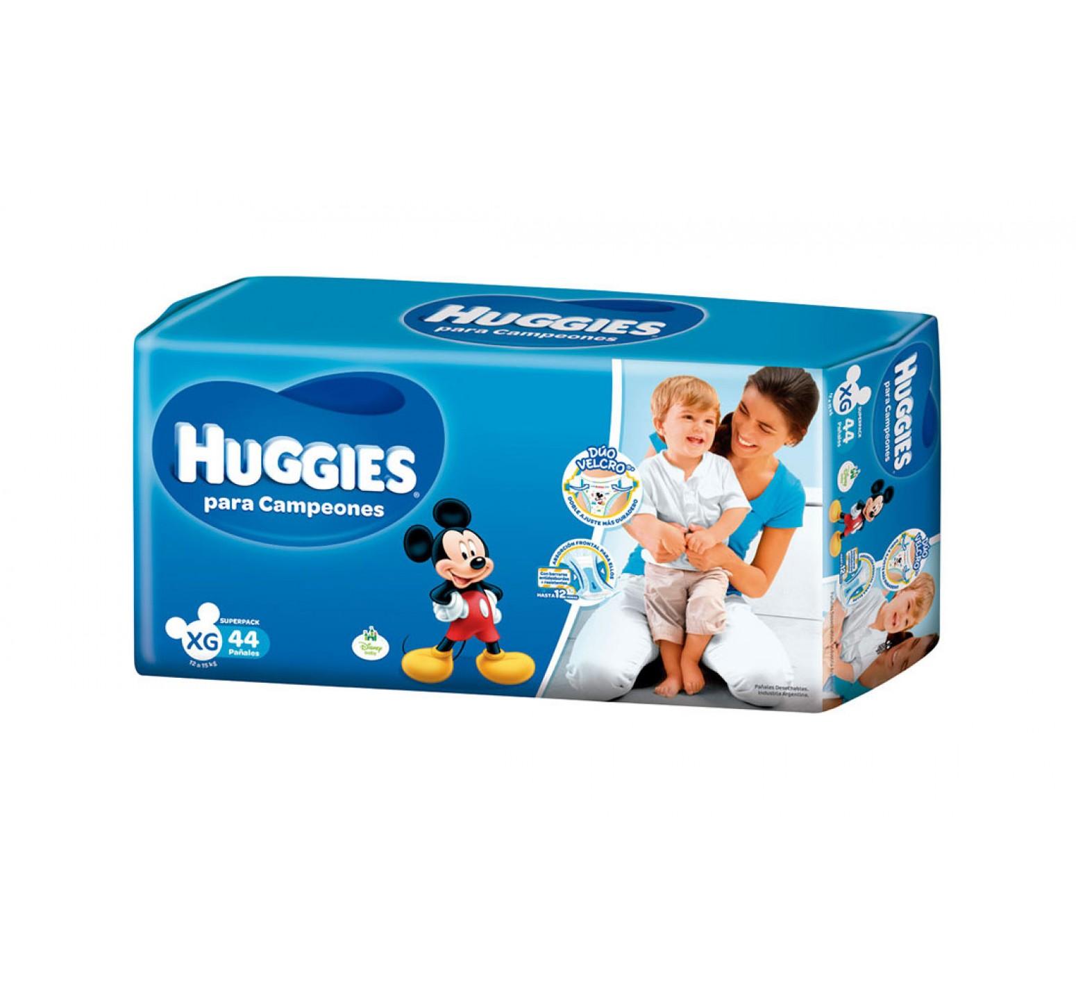 Huggies Active Sec Campeones [XG] Extra Grande (1 pack de 44 pañales)