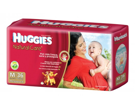 Huggies Natural Care [G] Grande (1 pack de 30 pañales)