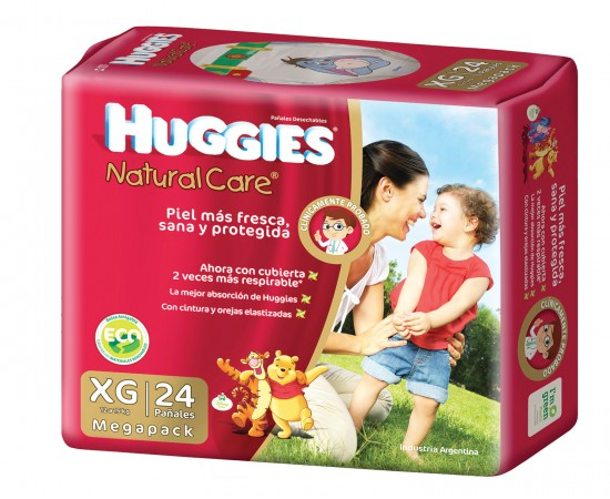 Huggies Natural Care [XG] Extra Grande (1 pack de 24 pañales)