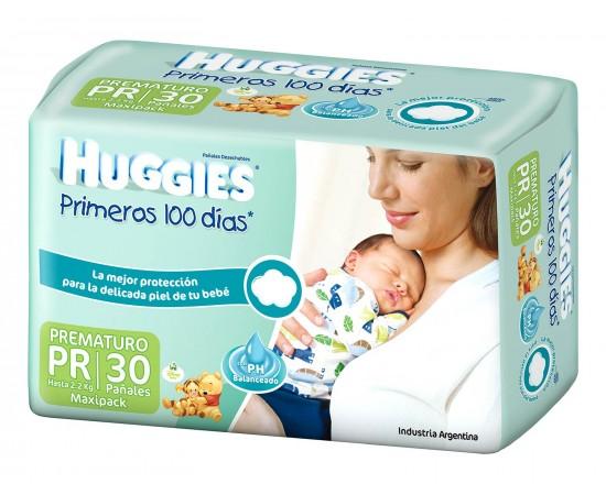 Huggies Primeros 100 días [PR] Prematuro (1 pack de 30 pañales)