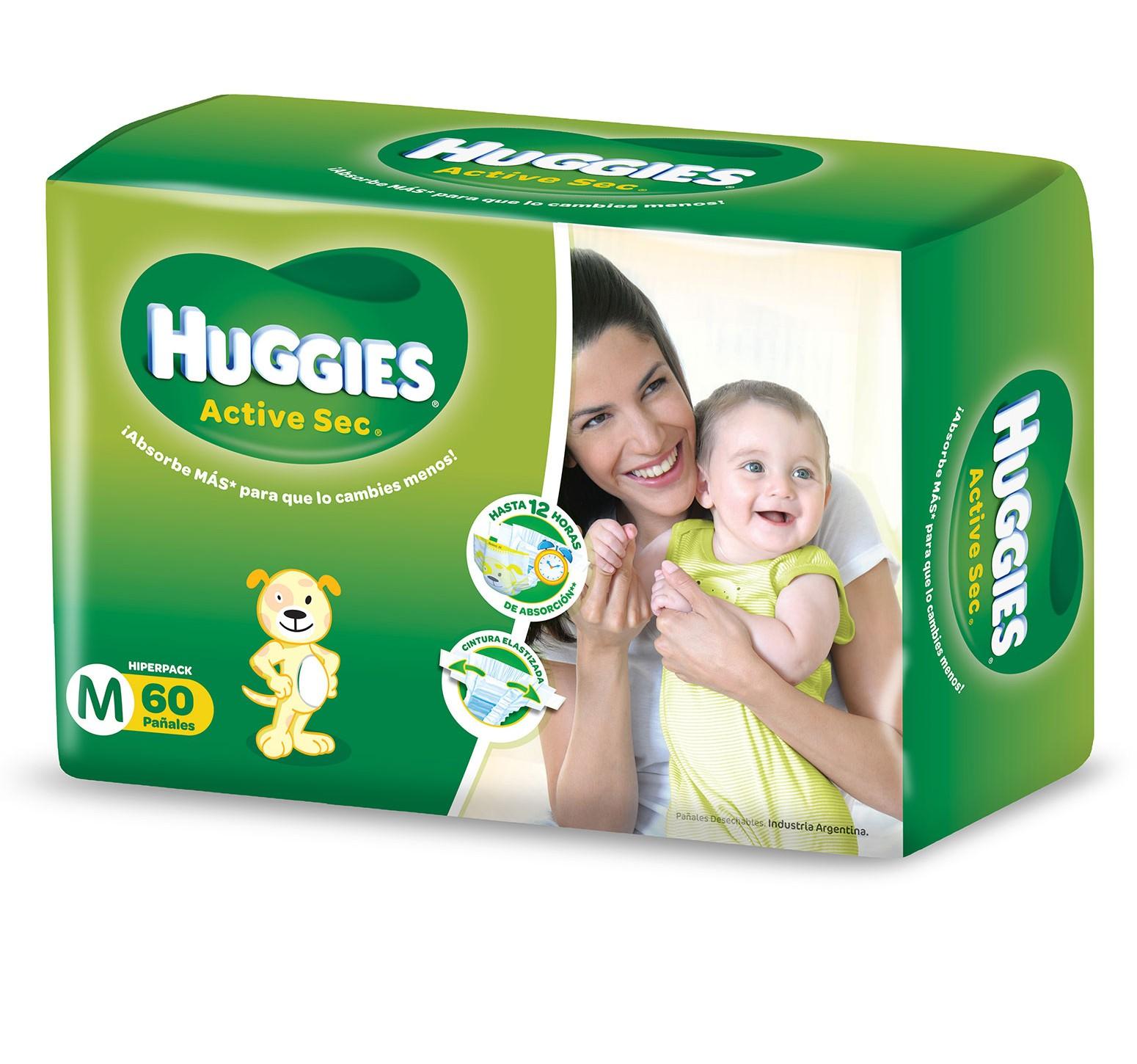 [ M ] · 5,5 a 9,5 kg. · 3 Packs de 60 pañales