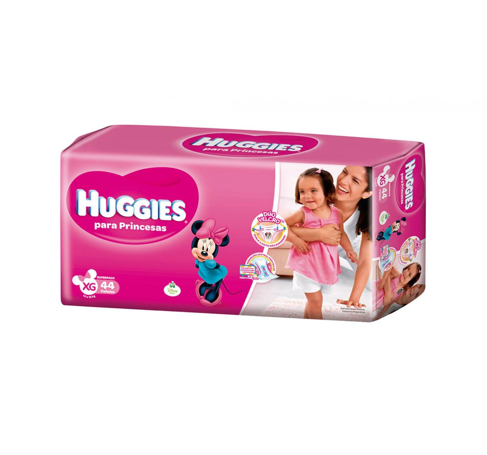 [ XG ] · 12 a 15 kg. · 5 Packs de 44 pañales