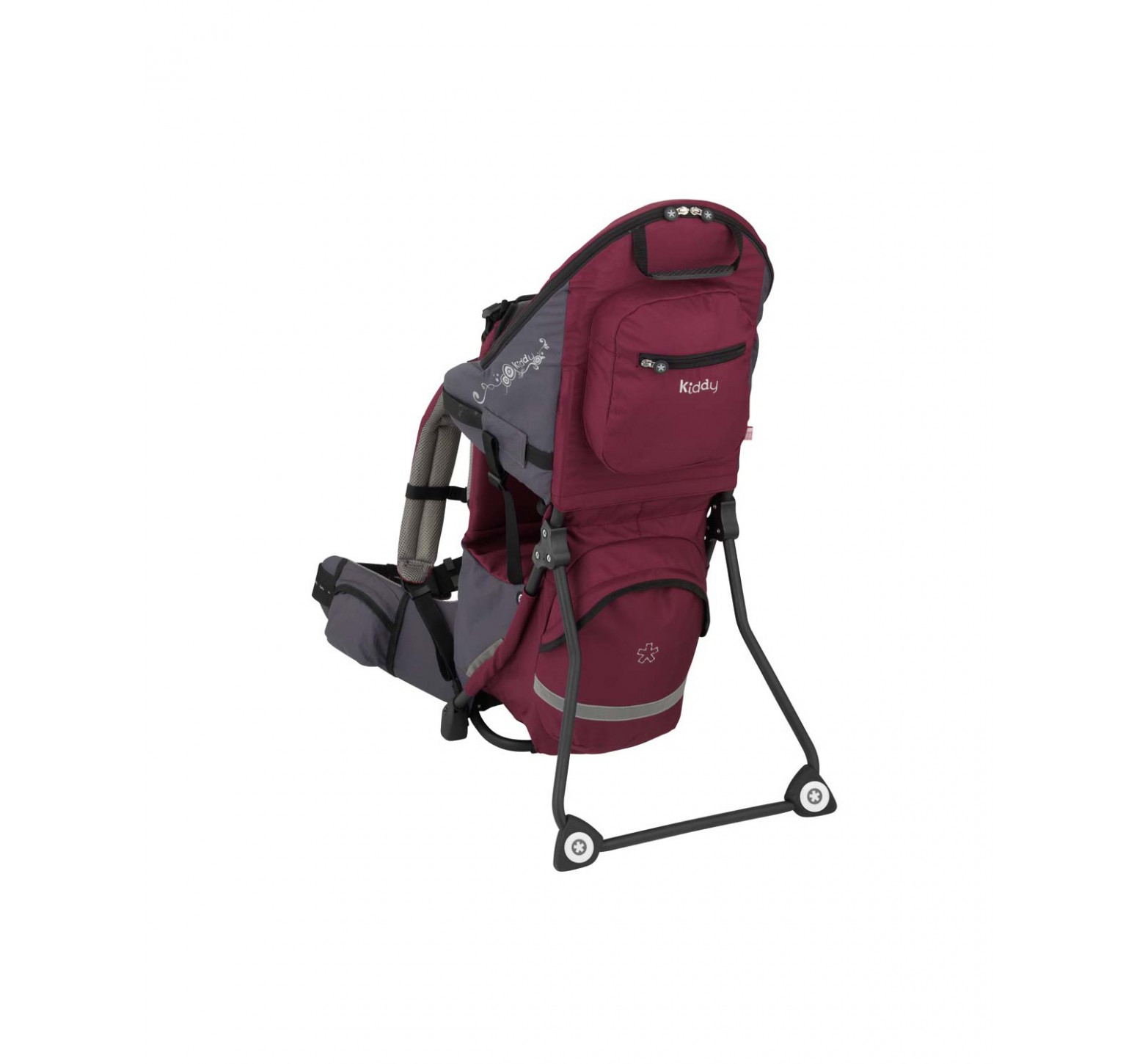 Kiddy Adventure Pack Child Carrier - Mochila trasportadora bordó