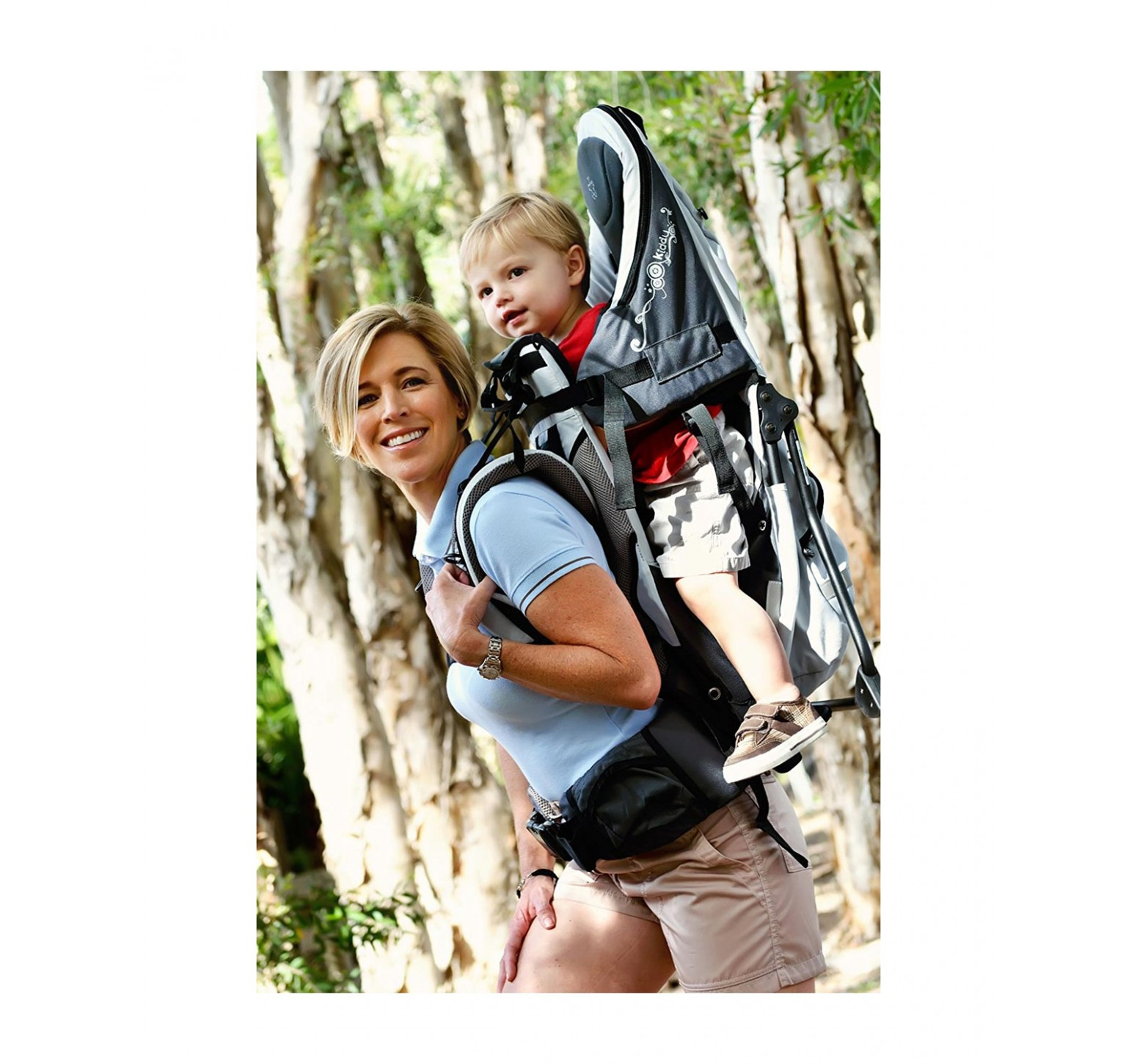 Kiddy Adventure Pack Child Carrier - Mochila transportadora azul