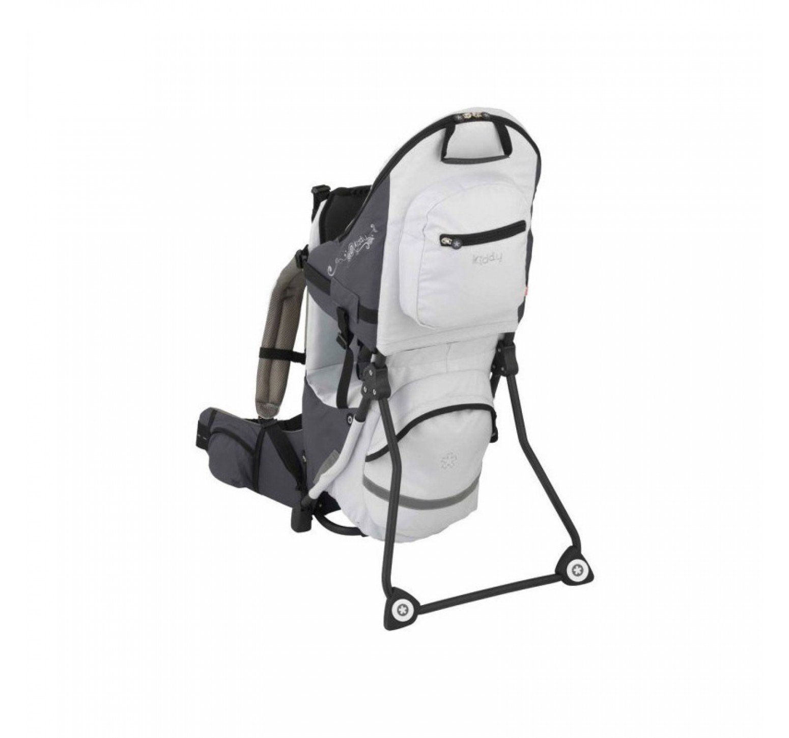 Kiddy Adventure Pack Child Carrier - Mochila trasportadora gris