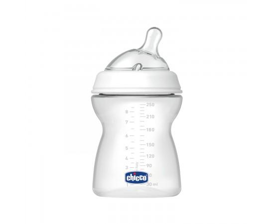 Chicco Biberón 2m+ Natural Feeling flujo medio (250 ml) + tetina de silicona