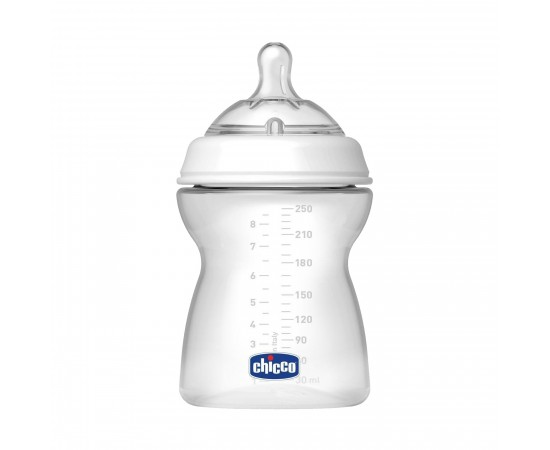 Chicco Biberón 4M+ Natural Feeling flujo regulable (250 ml) + tetina de silicona