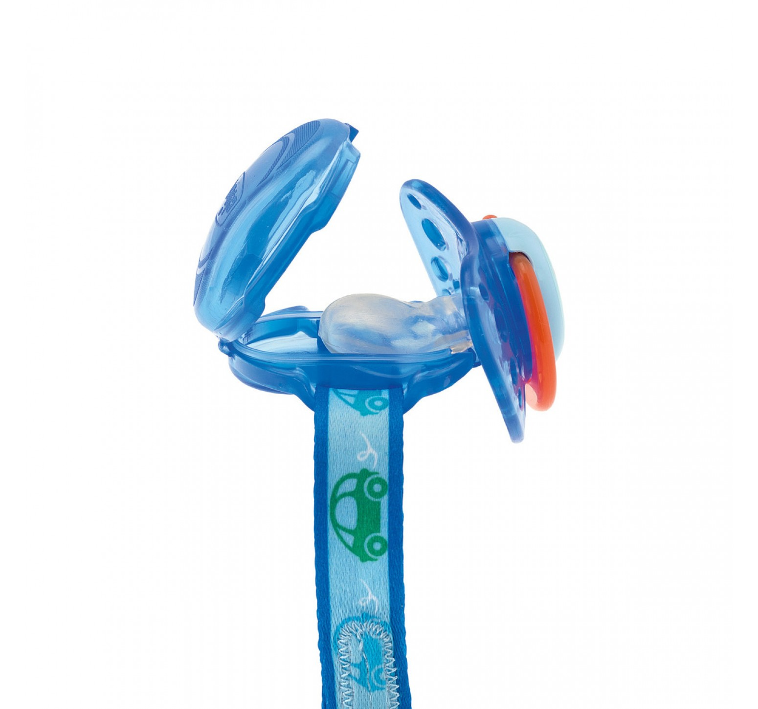Chicco Clip protege chupetes (azul)