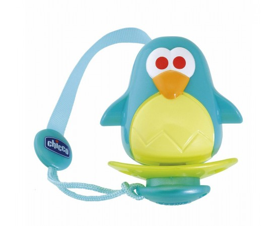 Chicco Porta-chupetes Clip Clap Pingüino