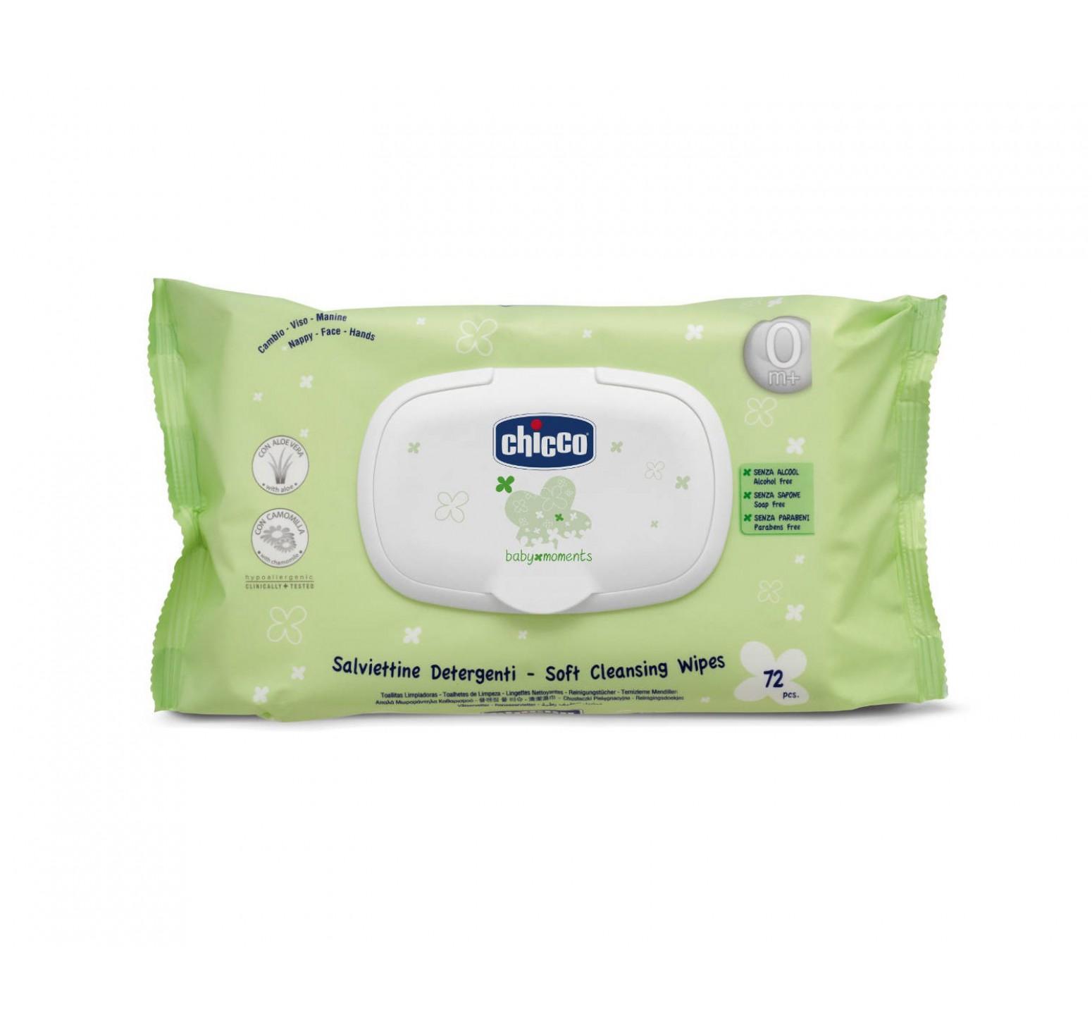 Chicco Toallitas limpiadoras Baby Moments (72 unidades)