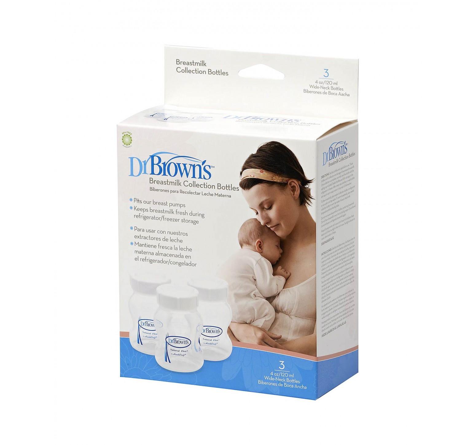 Dr.Brown's 3 botellas para freezer de cuello ancho