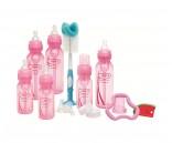 Dr.Brown's set de regalo edición especial rosado 6 unidades + accesorios