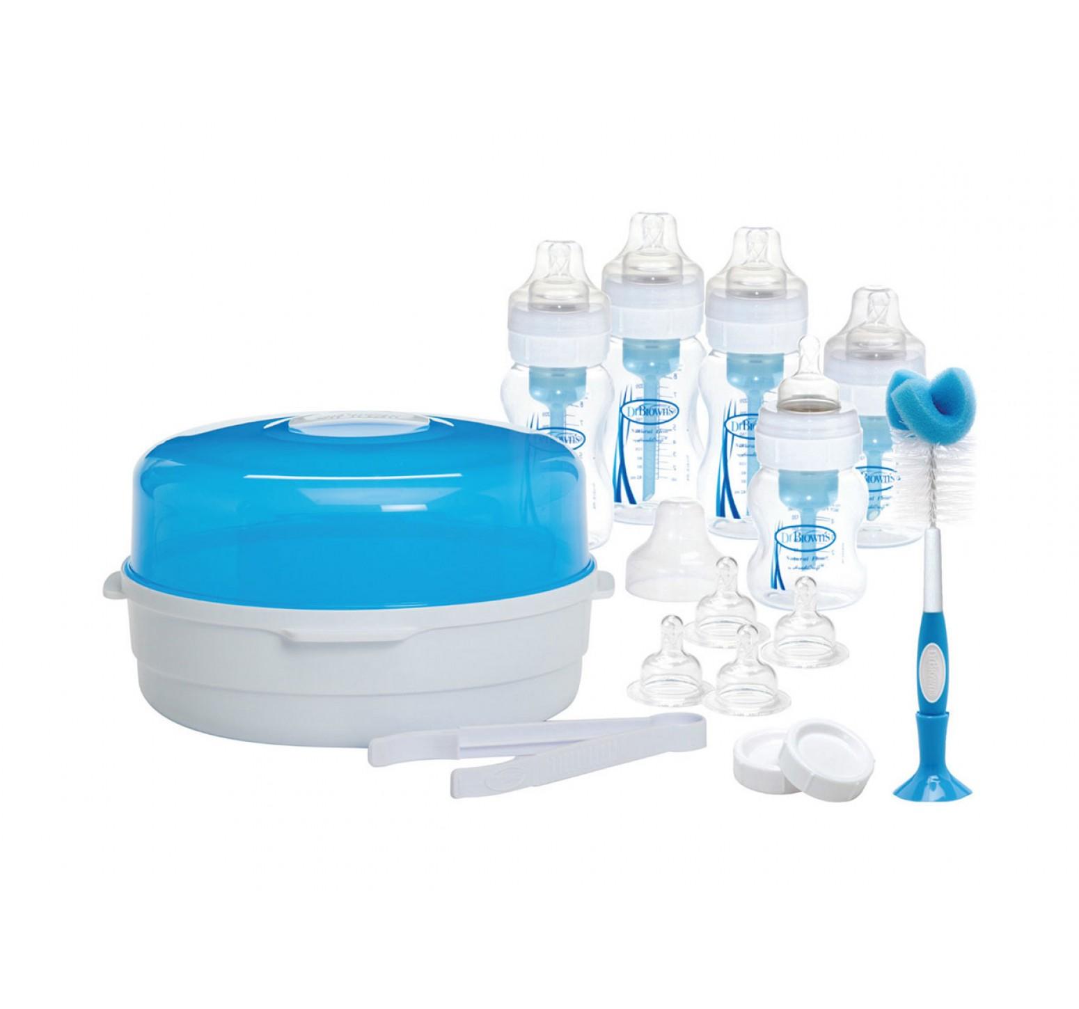 Dr.Brown's Set de regalo azul edición especial x 5 units + accesorios