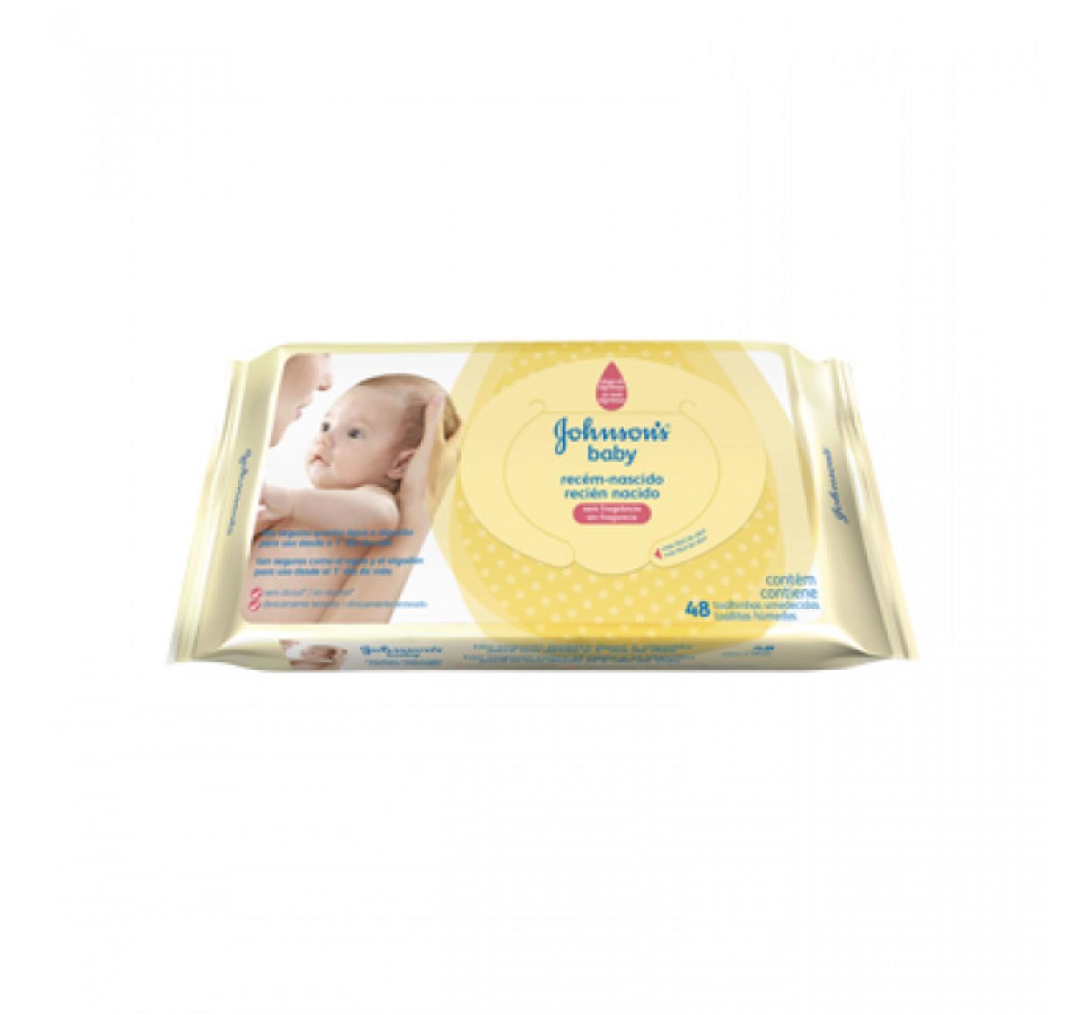 Johnson's Baby Toallitas húmedas recién nacido (48 unidades)