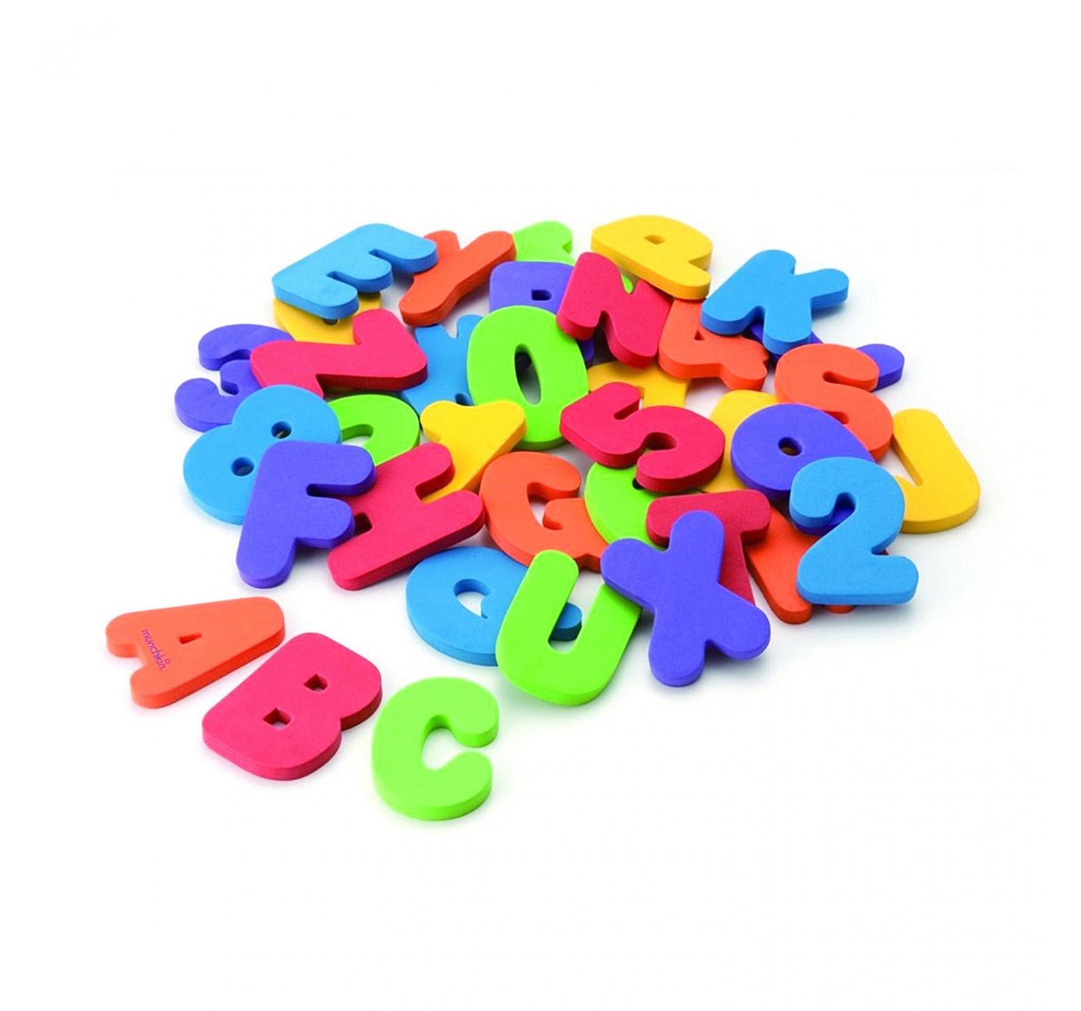 Munchkin 36 letras y números adherentes para baño