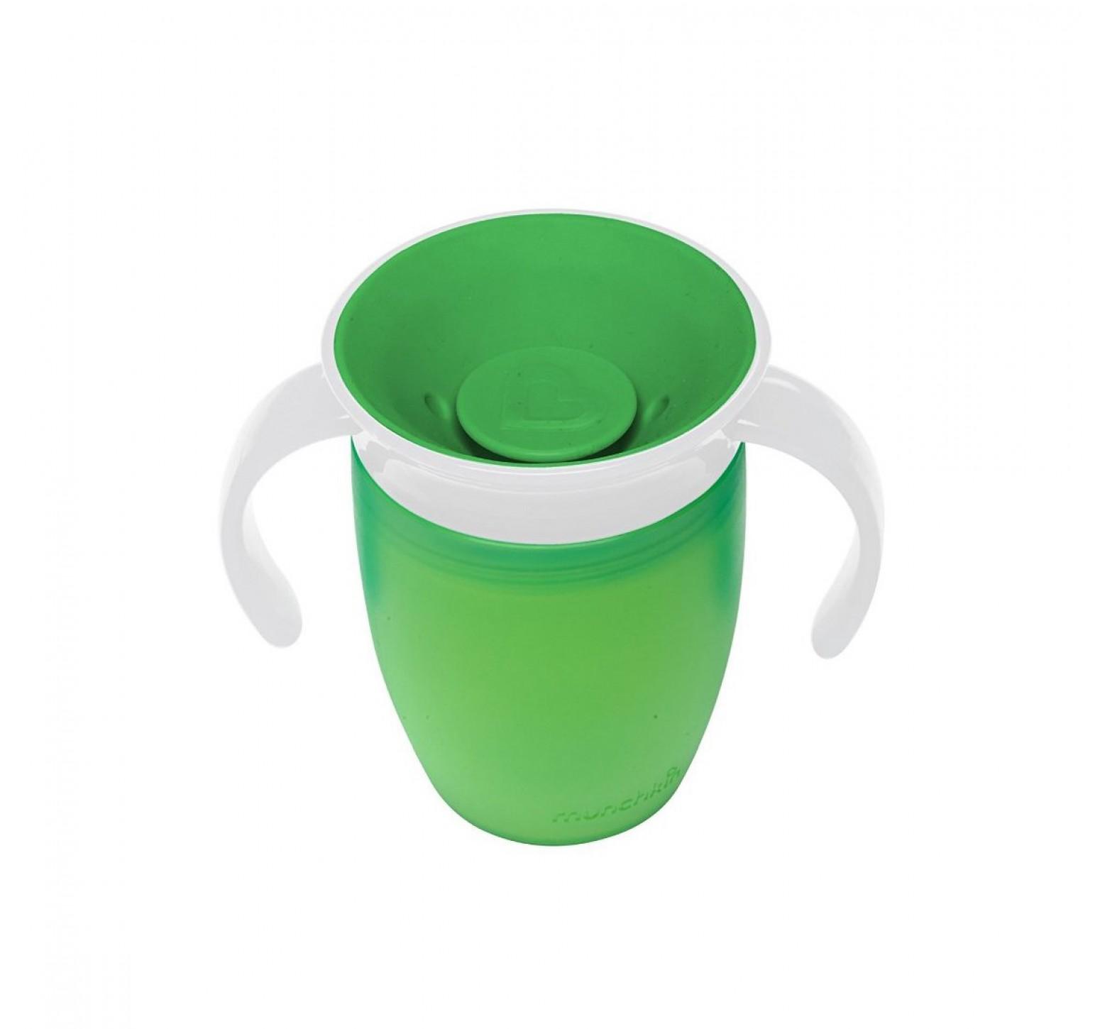 Munchkin Vaso de entrenamiento Miracle 360 verde  (200ml)