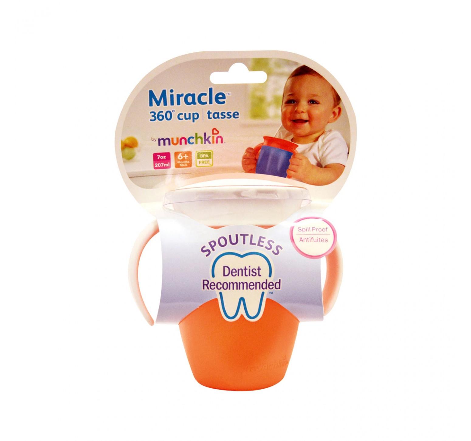 Munchkin Vaso de entrenamiento Miracle 360 naranja (200ml)