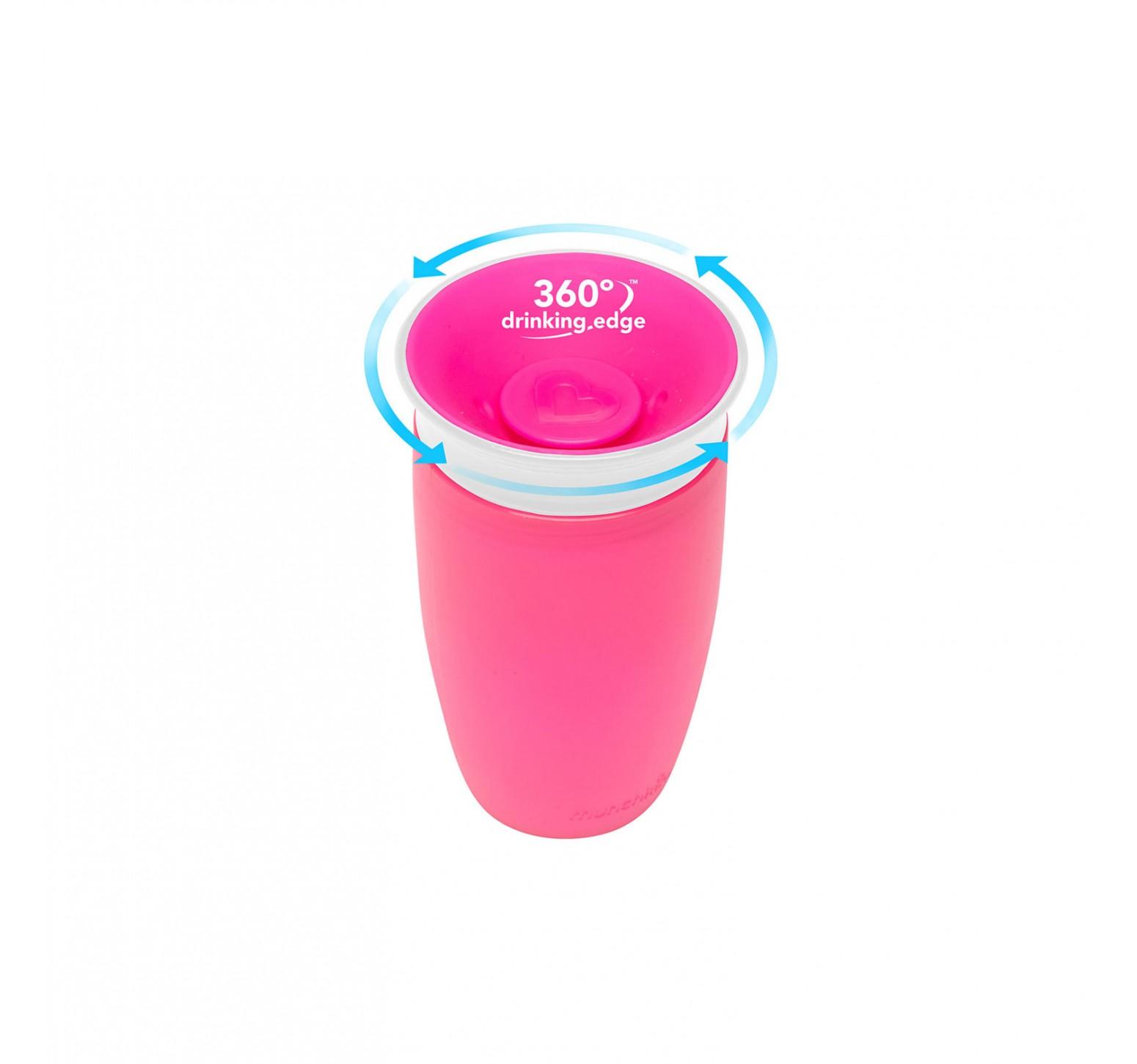 Munchkin Vaso de entrenamiento Miracle 360 rosa  (296ml)
