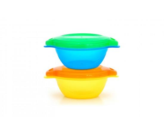 Munchkin Bowls con tapa anti derrames