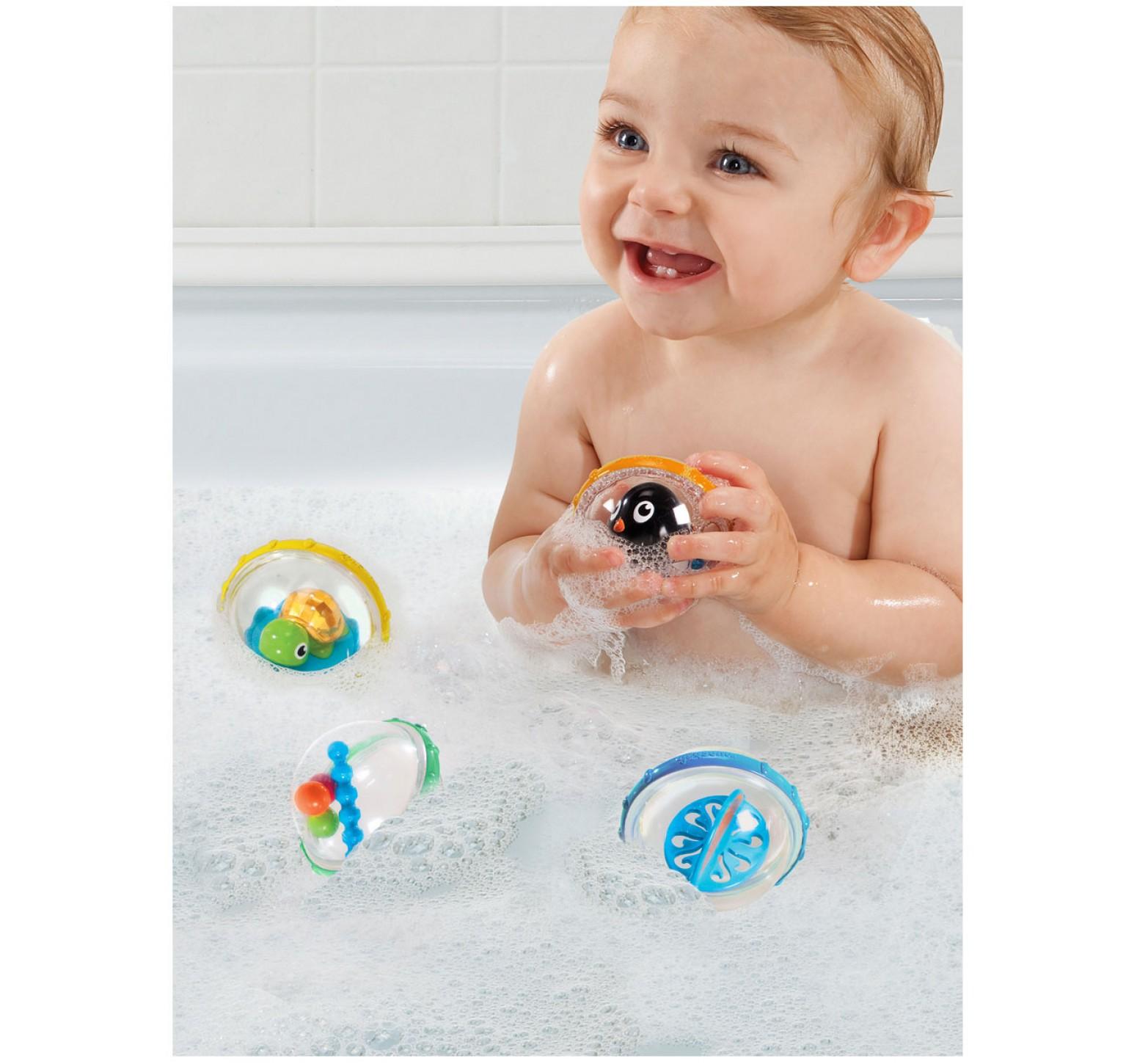 Munchkin Burbujas flotantes giratorias pinguino