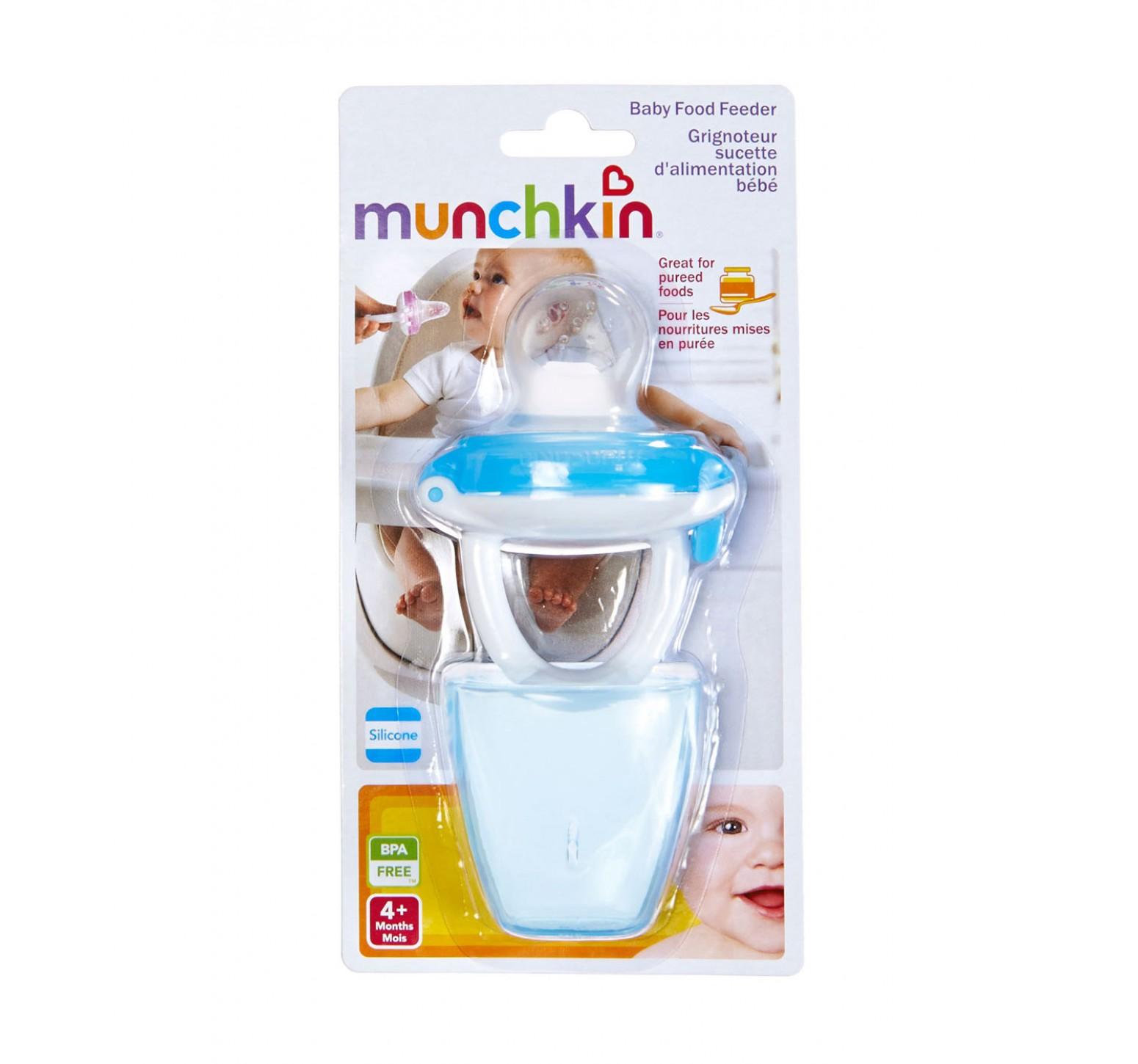 Munchkin Chupete alimentador de silicona celeste