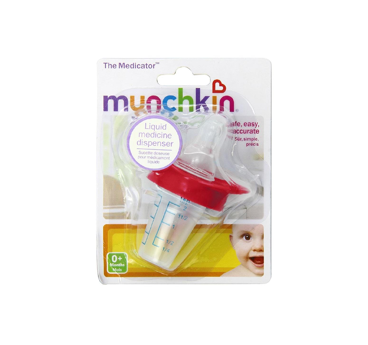 Munchkin Chupete dispensador de medicina fucsia
