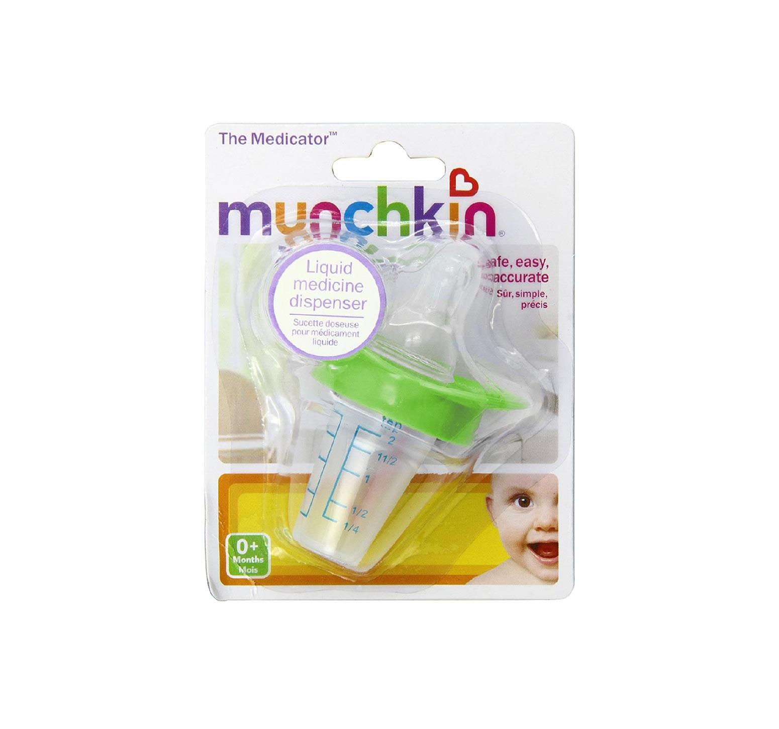 Munchkin Chupete dispensador de medicina verde