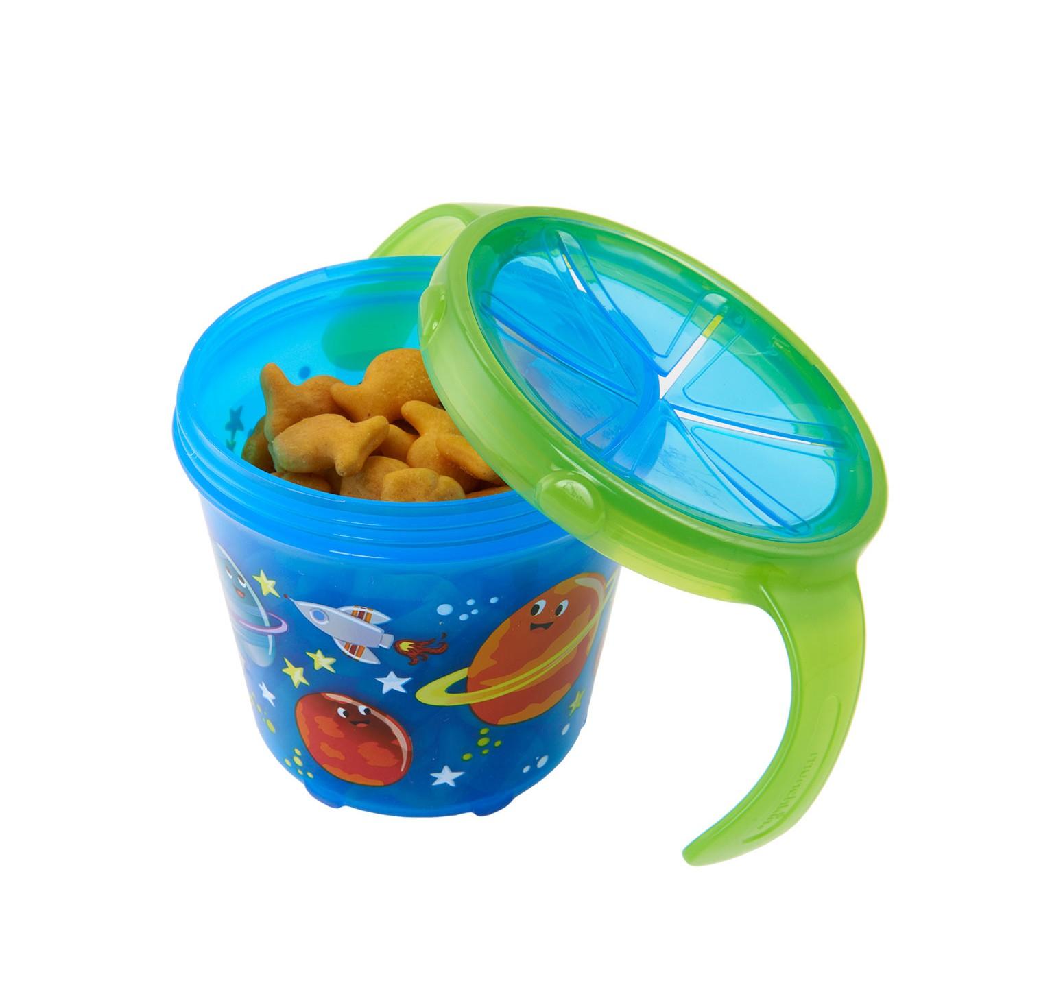 Munchkin Dispensador de snack azul planetas