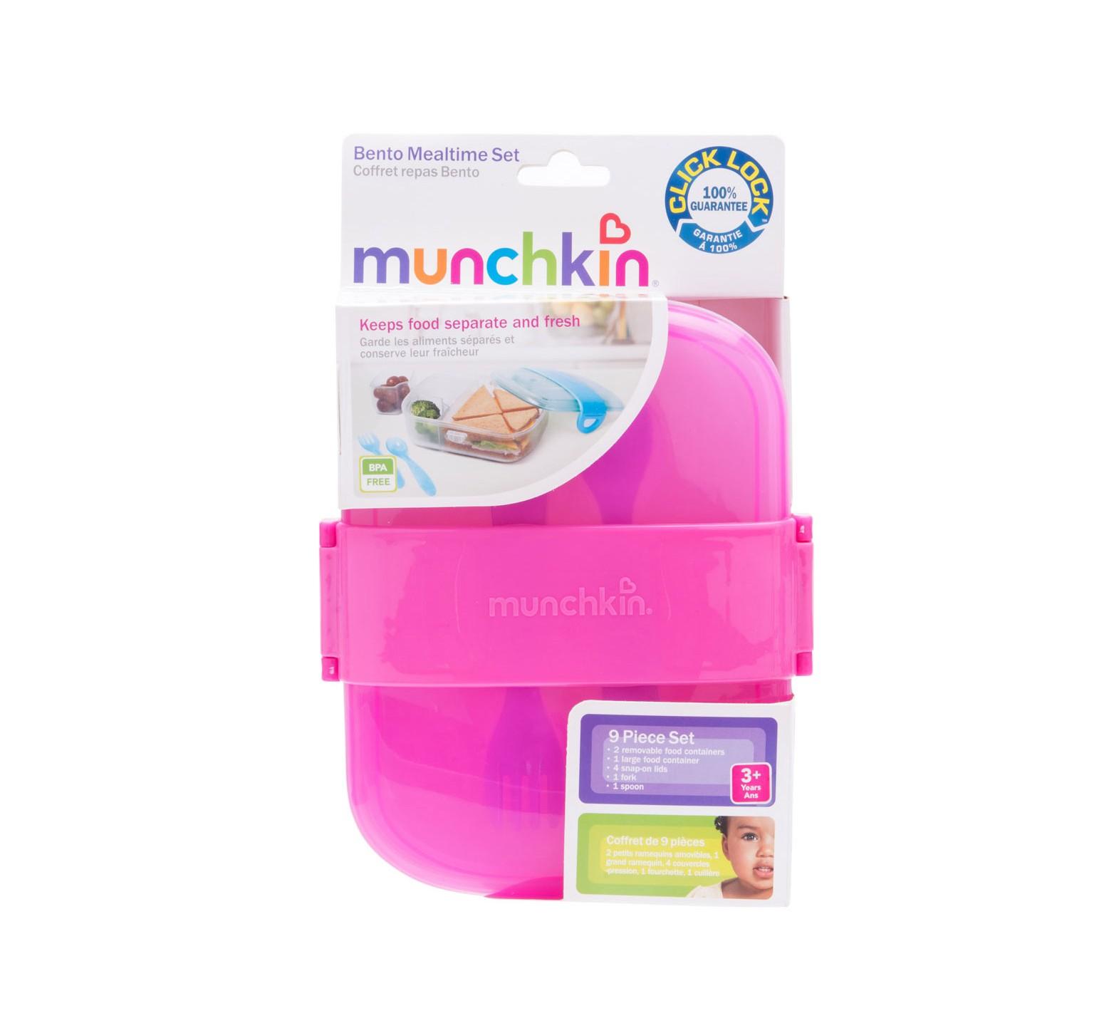 Munchkin Merendero Bento con Click Lock (Fucsia)