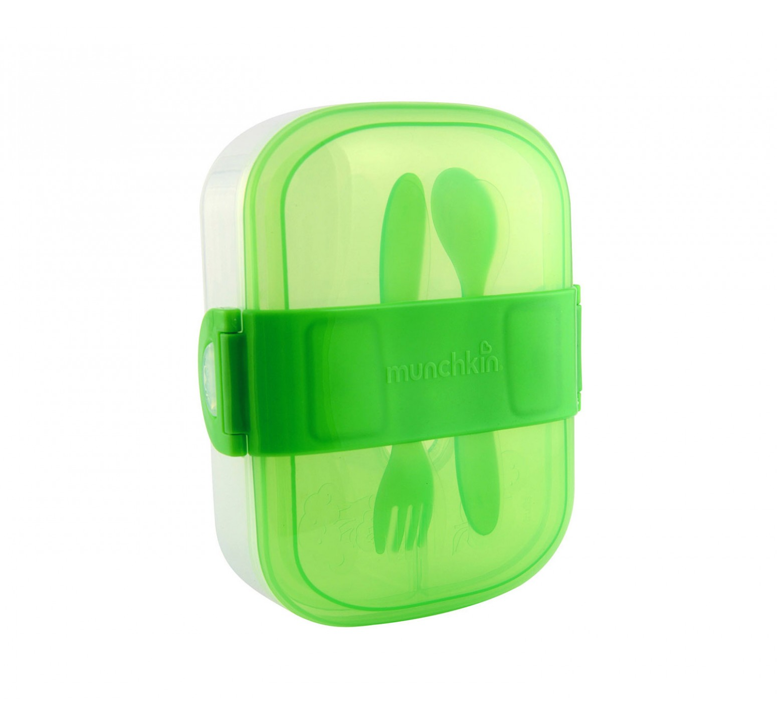 Munchkin Merendero Bento con Click Lock (Verde)