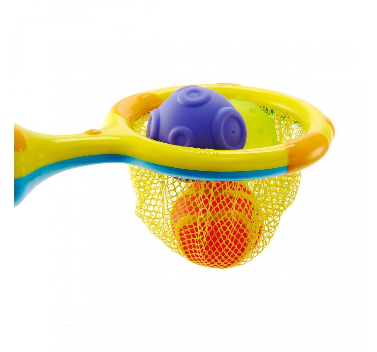 Munchkin Aro de basquet para baño con pelotas