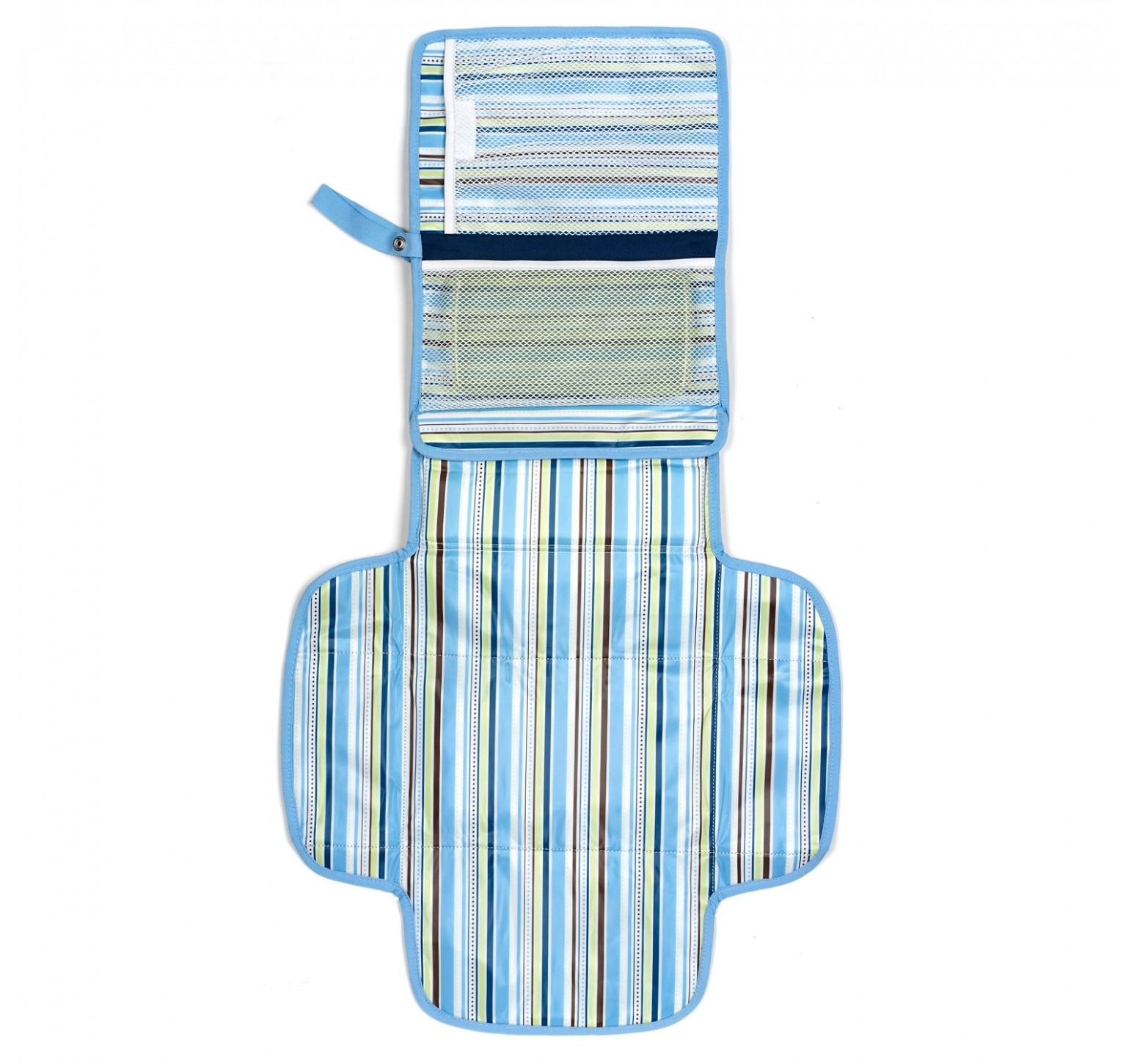 Munchkin Neceser de esenciales con cambiador azul