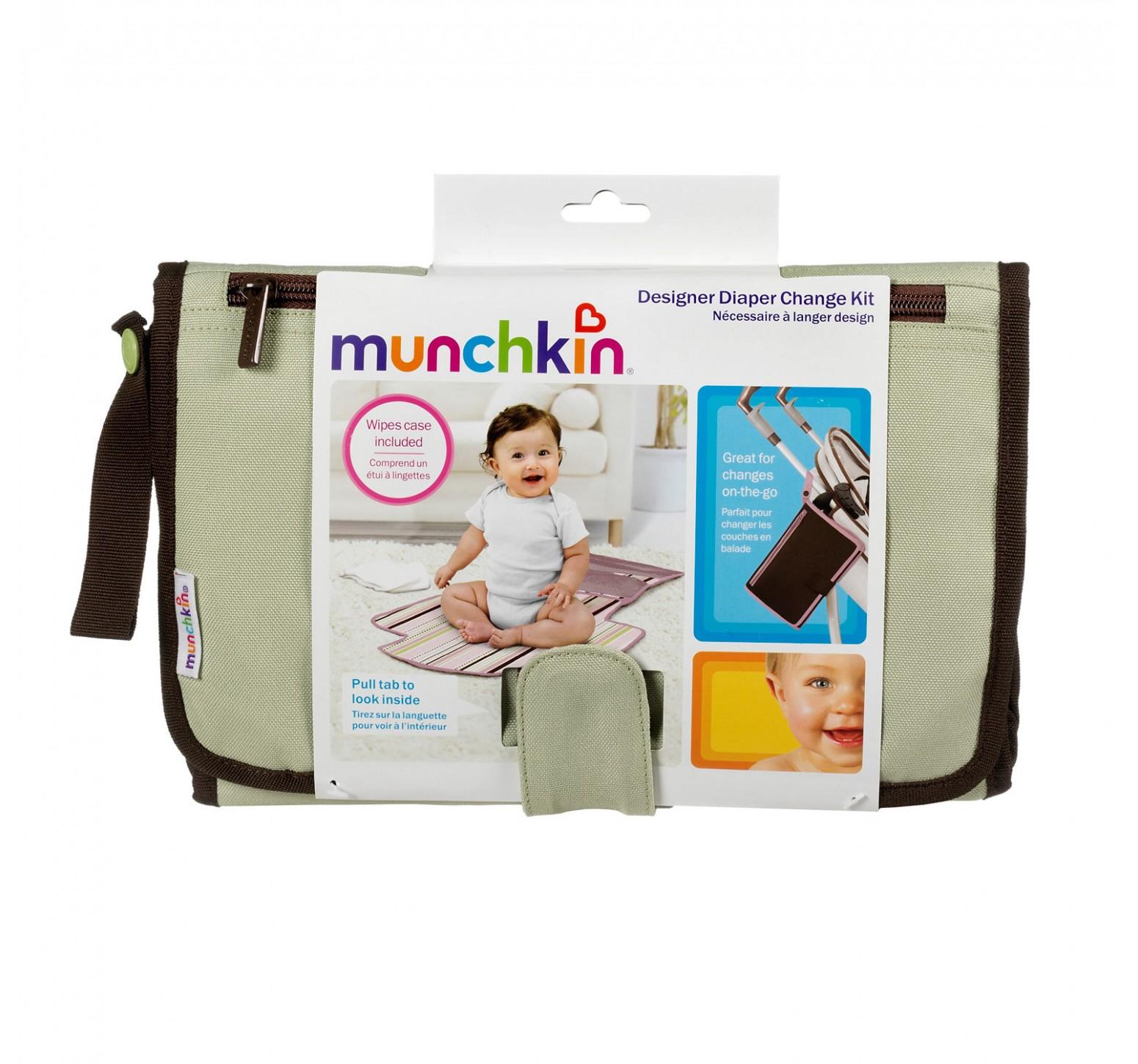 Munchkin Neceser de esenciales con cambiador verde