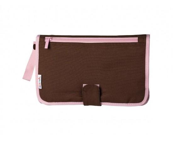 Munchkin Neceser de esenciales con cambiador marrón con rosa