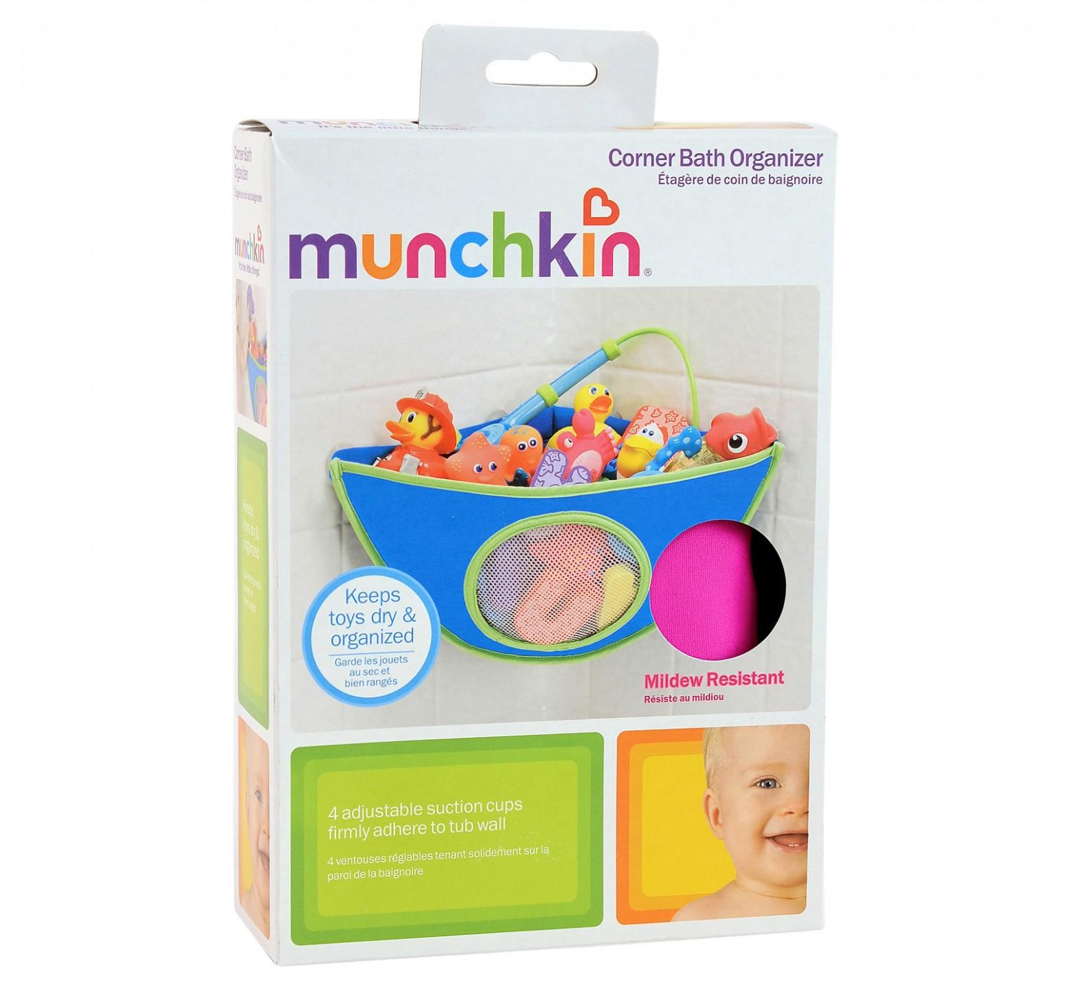 bebé: munchkin organizador esquinero para juguetes de baño, tienda ... - Organizador De Juguetes Para Bano