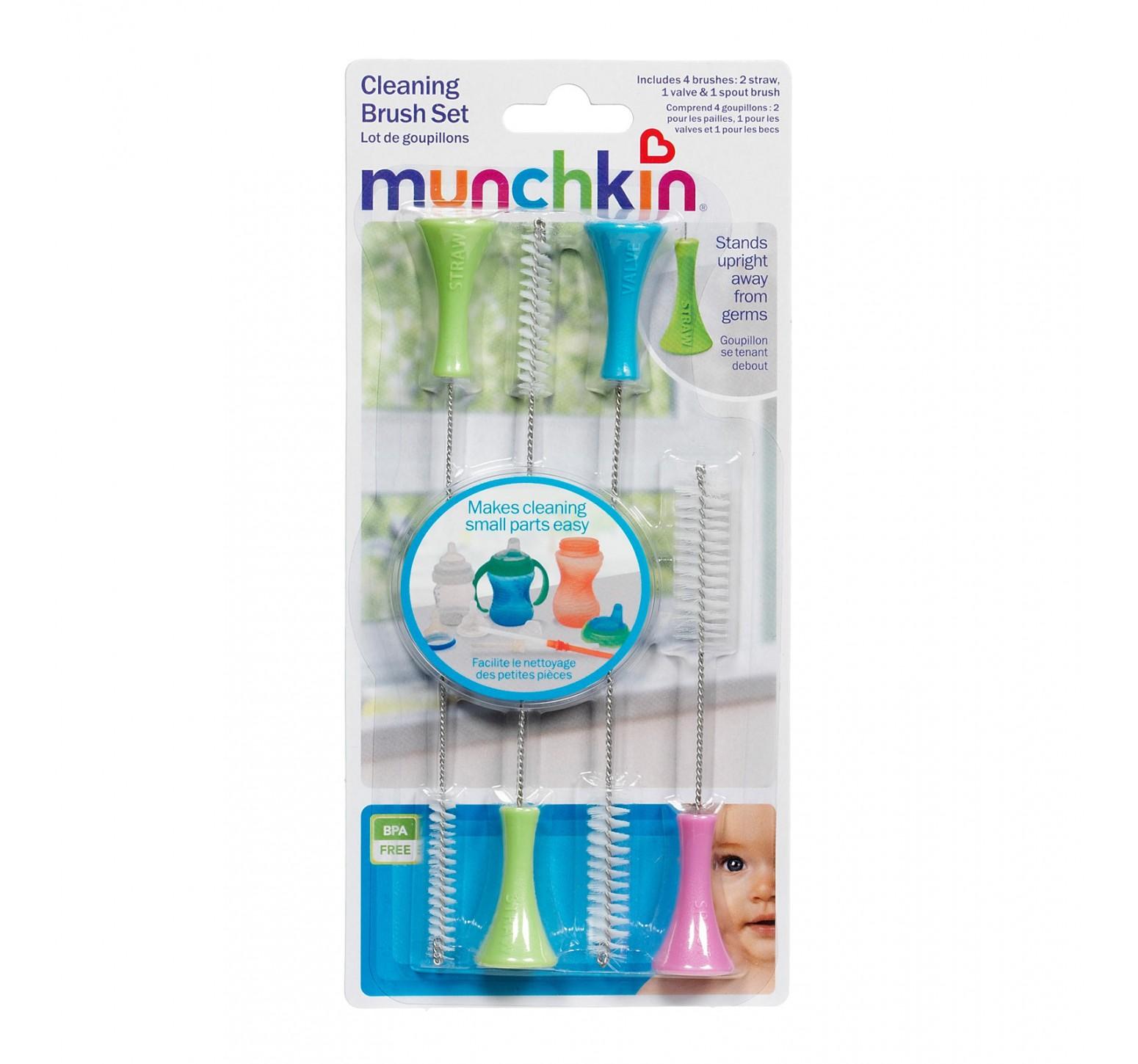 Munchkin Set de cepillos de limpieza