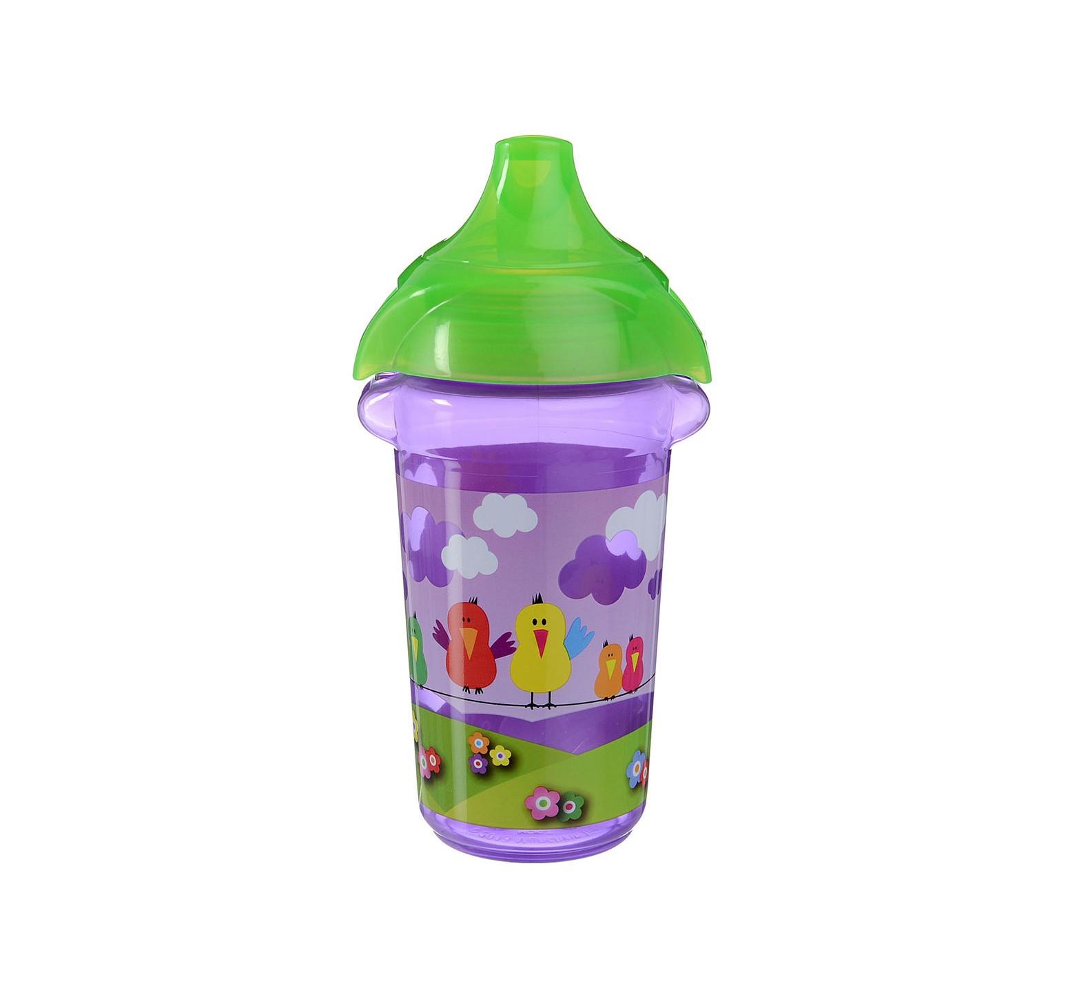 Munchkin Vaso de entrenamiento pico rígido lila tapa verde