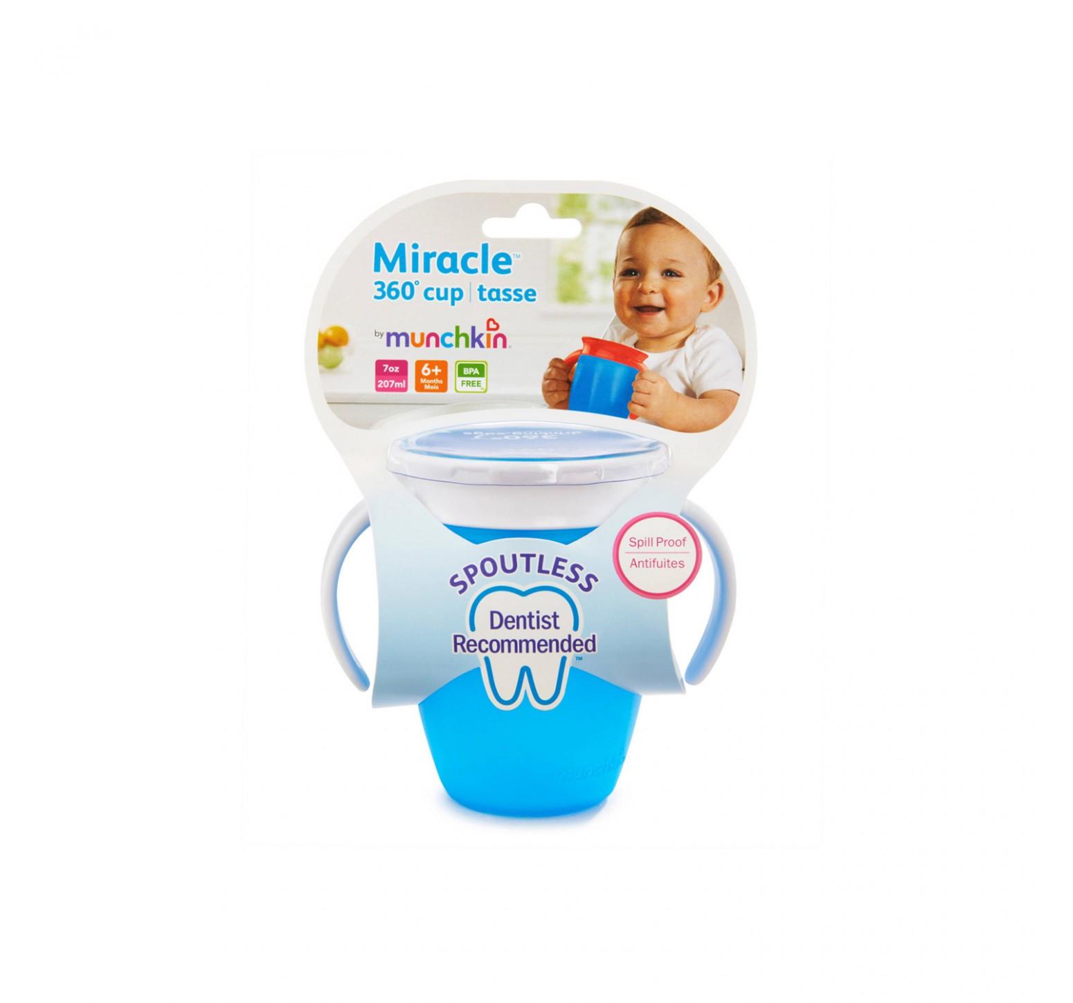 Munchkin Vaso de entrenamiento Miracle 360 azul (200ml)