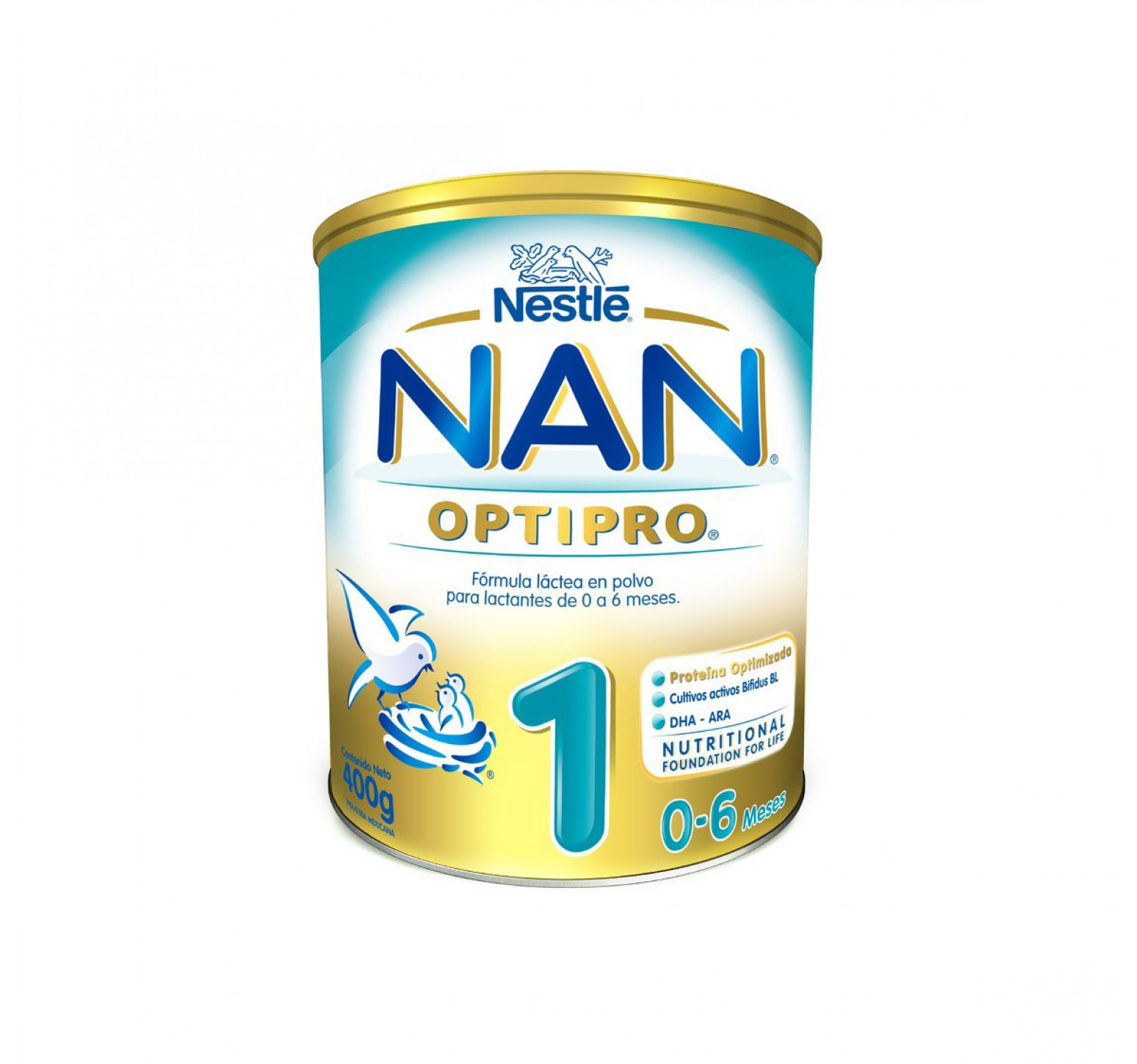 Nestlé Leche en polvo Nan OptiPro 1 (400 gr.)