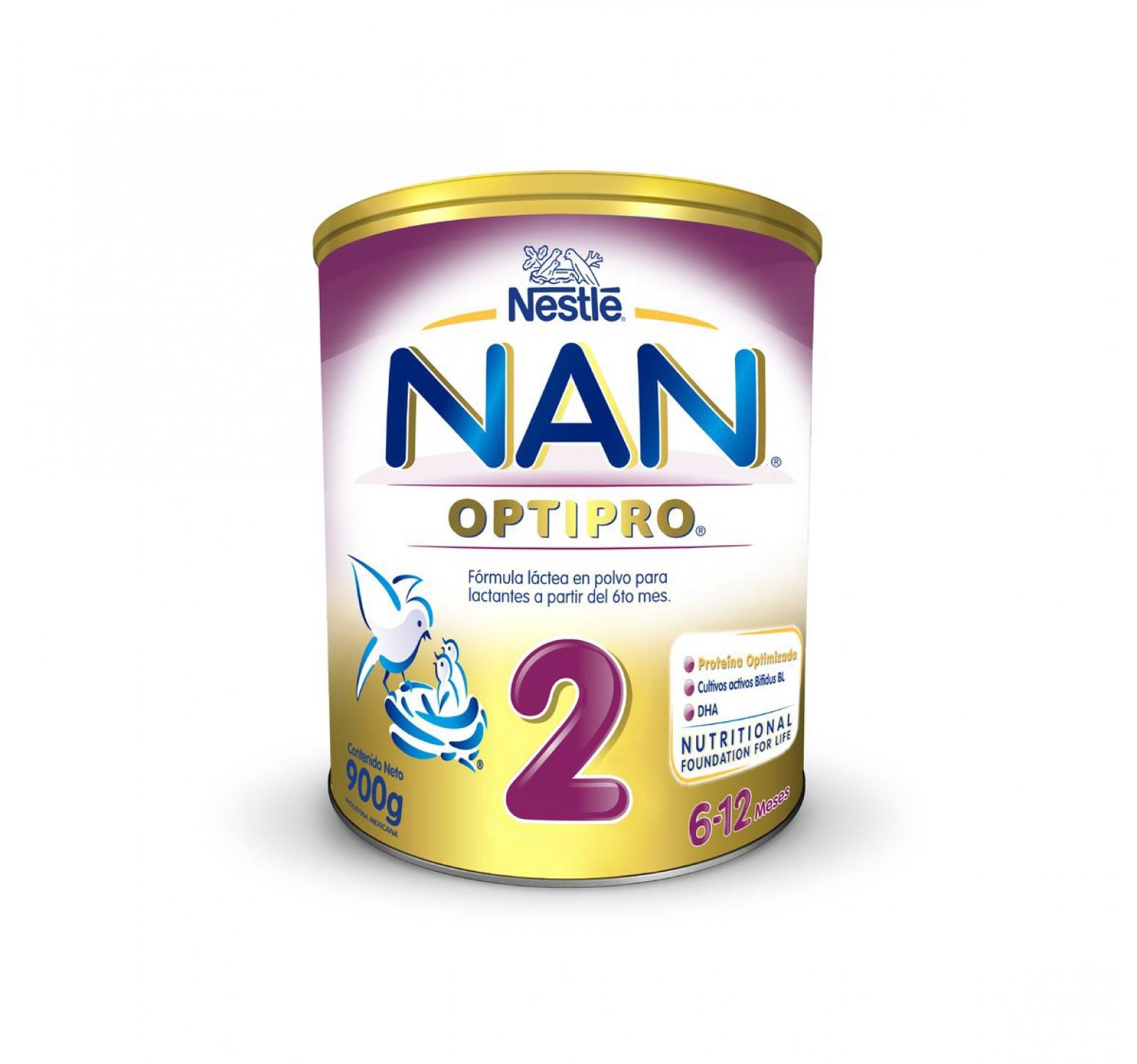 Nestlé Leche en polvo Nan 2 OptiPro (900 gr.)