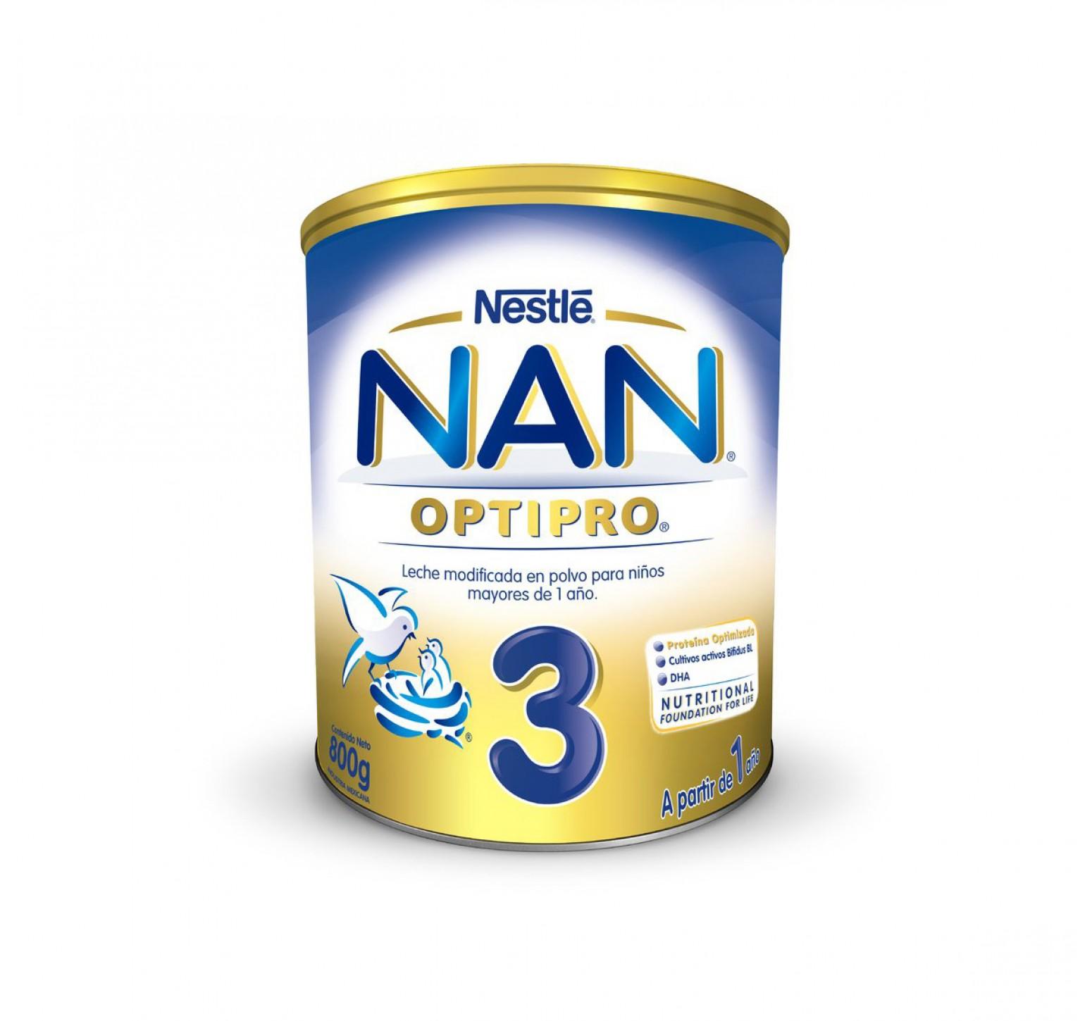 Nestlé Leche en polvo Nan 3 OptiPro (800 gr.)